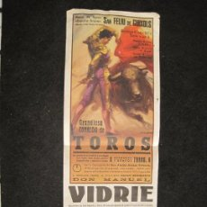 Carteles Toros: SANT FELIU DE GUIXOLS-CORRIDA DE TOROS-JULIO 1972-VER FOTOS-(K-3259). Lote 268769919