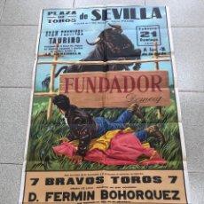 Carteles Toros: CARTEL PLAZA DE TOROS DE SEVILLA. 21 DE FEBRERO DE 1971. Lote 269837528