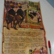 Carteles Toros: TOROS MUNDO TAURINO PLAZA DE TOROS MADRID SAN ISIDRO 1984 CARTEL DE LA FERIA. Lote 270199718