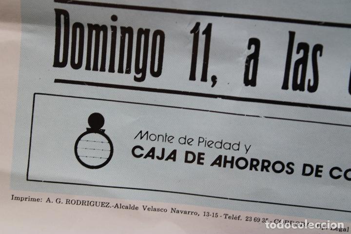 Carteles Toros: cartel de toros plaza cordoba, 1988, original - Foto 4 - 276109848