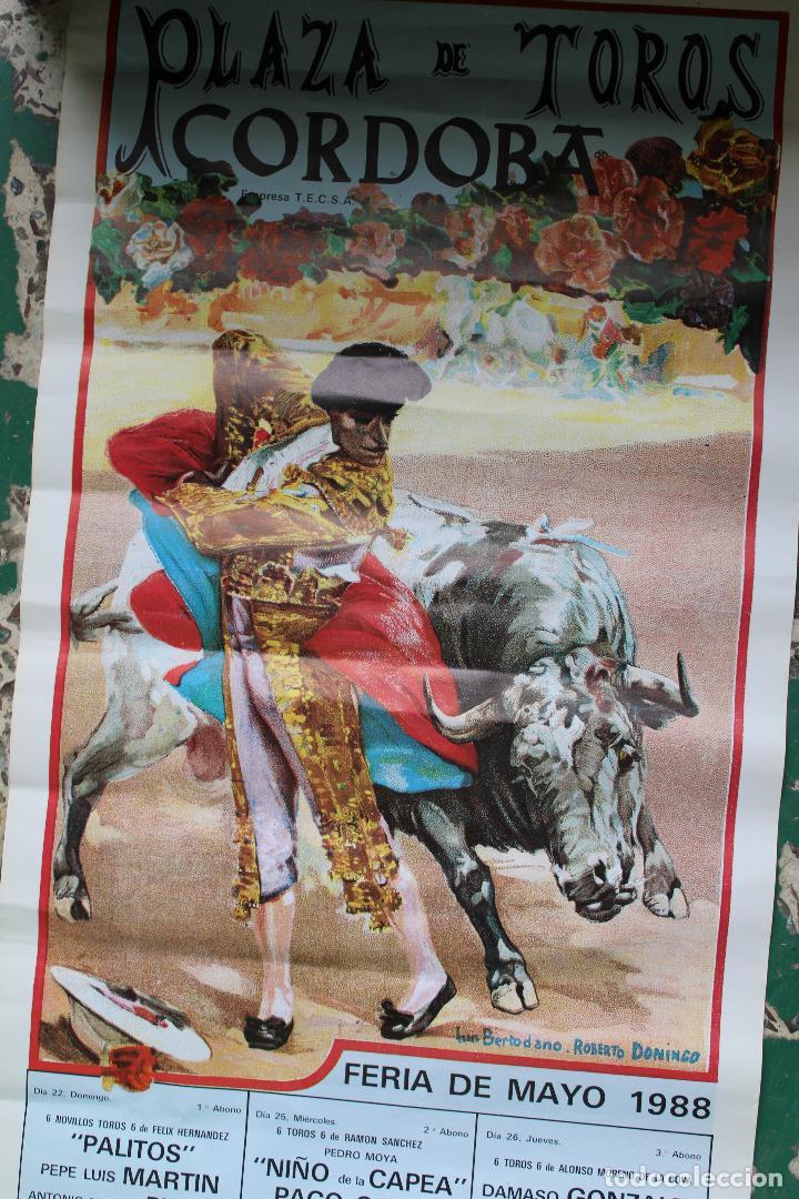Carteles Toros: cartel de toros plaza cordoba, 1988, original - Foto 3 - 276110208