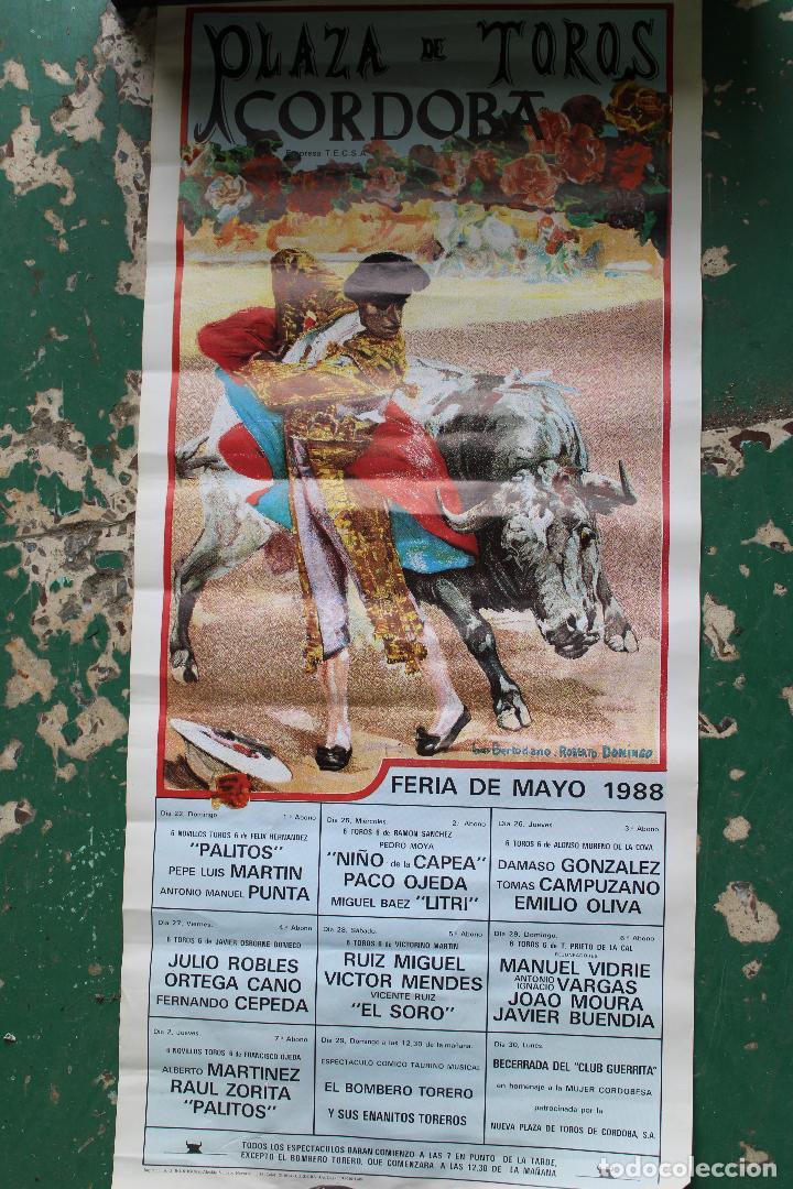 CARTEL DE TOROS PLAZA CORDOBA, 1988, ORIGINAL (Coleccionismo - Carteles Gran Formato - Carteles Toros)