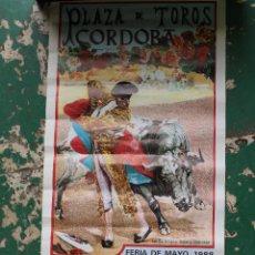 Carteles Toros: CARTEL DE TOROS PLAZA CORDOBA, 1988, ORIGINAL. Lote 276110208