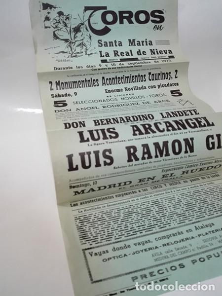 1972. SANTA MARÍA LA REAL DE NIEVA (SEGOVIA). CARTEL CORRIDA DE TOROS. (Coleccionismo - Carteles Gran Formato - Carteles Toros)