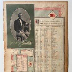 Carteles Toros: CORRIDAS TOREADAS JOSÉ GOMEZ , GALLITO , CARTEL 1915 , R. VELASCO , MADRID , TORERO. Lote 278350203