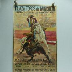 Cartazes Touros: CARTEL DE TOROS PLAZA DE TOROS MADRID FERIA TAURINA SAN ISIDRO 1985. Lote 285526048