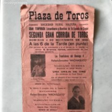 Cartazes Touros: CARTEL TOROS SOCIEDAD RURAL SALTEÑA. ARGENTINA. 1949. Lote 285762213