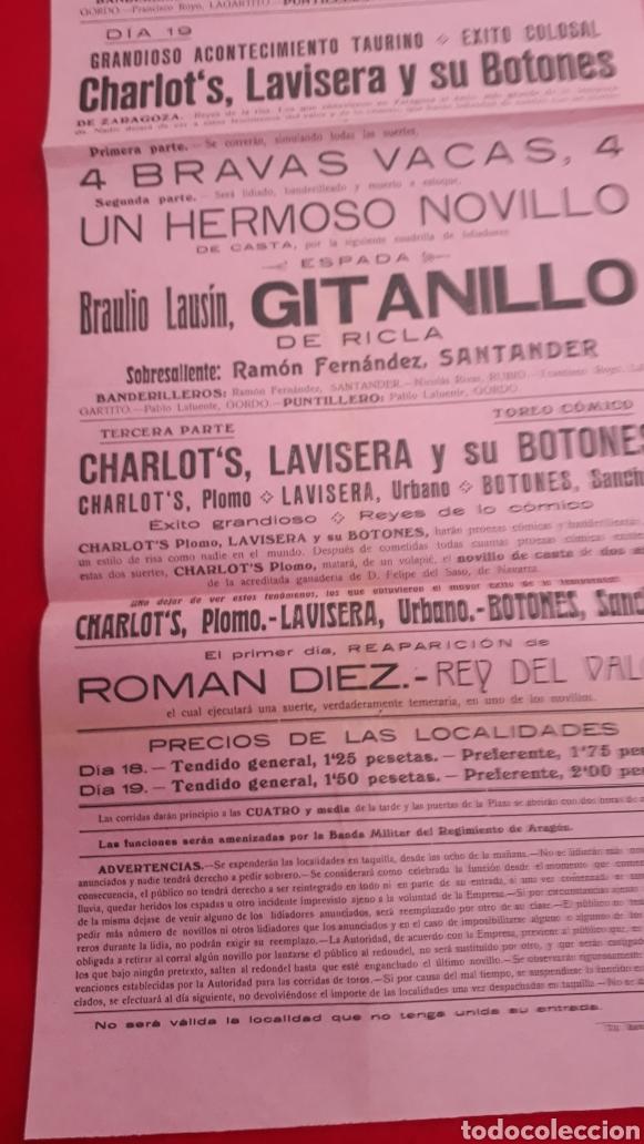 Carteles Toros: Plaza de toros de Épila 18 y 19 de septiembre de 1919 - Foto 4 - 287675233