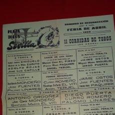 Carteles Toros: FERIA DE ABRIL DE 1968 CURRO ROMERO. Lote 288001403