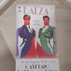Carteles Toros: CARTEL DE TOROS BAEZA FERIA 2021. Lote 288178858