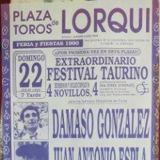 Carteles Toros: CARTEL TOROS LORQUI 1990. Lote 288212623