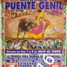 Carteles Toros: CARTEL DE TOROS PUENTE GENIL 2000. Lote 288219918
