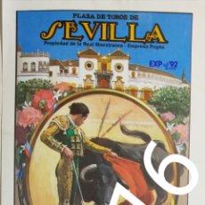 Carteles Toros: CARTEL DE TOROS SEVILLA 1991. Lote 288221728