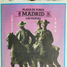 Carteles Toros: CARTEL DE TOROS MADRID 1990. Lote 288222113