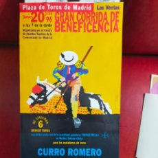 Carteles Toros: CARTEL DE TOROS MADRID BENEFICENCIA 1996( 43X21). Lote 288222578