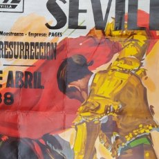 Carteles Toros: 1988 CARTEL DE TOROS EXPO92 PLAZA DE TOROS DE SEVILLA FERIA CORRIDA DIMENSIONES CM. 232X111. Lote 289490008