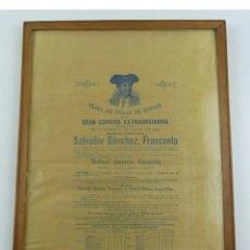 Carteles Toros: CARTEL DE TOROS DESPEDIDA DE FRASCUELO MADRID 1890. Lote 289522463