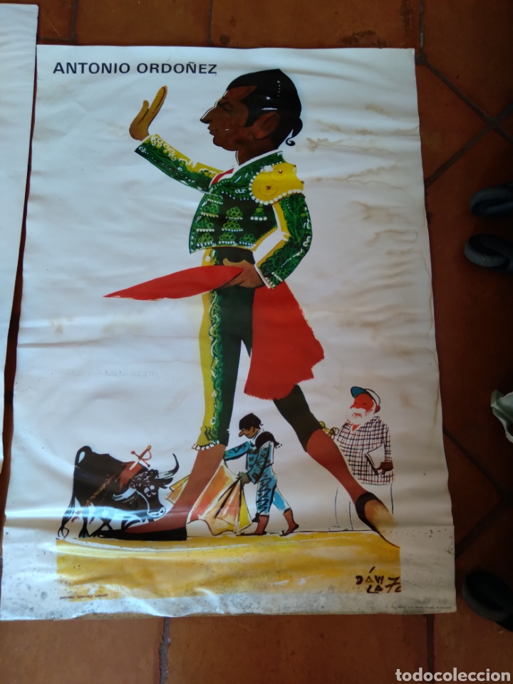 Carteles Toros: Litografía de Dávila Antonio Ordóñez - Foto 2 - 289577023