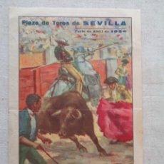 Carteles Toros: CARTEL DE MANO FERIA DE SEVILLA 1950. Lote 289680508