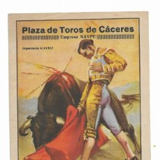 Carteles Toros: CARTEL PLAZA DE TOROS DE CÁCERES- FERIA Y FIESTAS DE MAYO DE 1947-. Lote 289720768