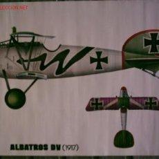 Carteles de Transportes: TRES CARTELES – LAMINAS DE AVIONES .. ALBATROS DV (1917) – GLOSTER GLAUNTLET (1935) – BOEING P- 26. Lote 26351035