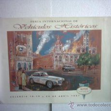Carteles de Transportes: CARTEL DE FERIA MOTOR EPOCA 1997 VALENCIA. Lote 19027868