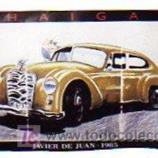 Carteles de Transportes: JAVIER DE JUAN. HAIGA. COCHE GRANDE Y LUJOSO. MEDIDAS: 160 X 80 CM.. Lote 26182759