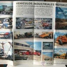 Carteles de Transportes: CARTEL VEHÍCULOS INDUSTRIALES MOTORIZADOS Y EQUIPO PARA CONSTRUCCIÓN DE GRAN BRETAÑA. Lote 32804762