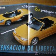 Carteles de Transportes: CARTEL POSTER REVISTA MOTOR JOVEN SPIDER & MEGANE CABRIO SENSACION DE LIBERTAD NUEVO. Lote 32893719