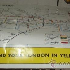 Carteles de Transportes: CARTEL PLASTIFICADO DEL METRO DE LONDRES. Lote 34269810