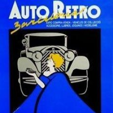 Carteles de Transportes: CARTEL AUTO RETRO BARCELONA.1990. G. PLASS. 40X60CM.. Lote 35799116