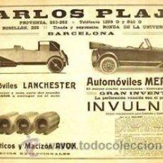 Carteles de Transportes: CARTEL CARLOS PLAJA. C.1920. ANÒNIM.. Lote 35799346