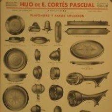 Carteles de Transportes: CARTEL HIJO DE E. CORTES PASCUAL, FAROS. 1940. ANÓNIMO. Lote 35800482