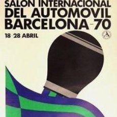 Carteles de Transportes: CARTEL SALON INTERNACIONAL AUTOMOVIL.1970.LILLO.43X68. Lote 35815782