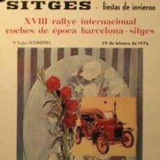 Carteles de Transportes: CARTEL SITGES 1976. 1976. FERRAND.. Lote 36032877