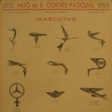 Carteles de Transportes: CARTEL.HIJO DE E.CORTES PASCUAL, MASCOTAS.ANÒNIM.32X44. Lote 35816538