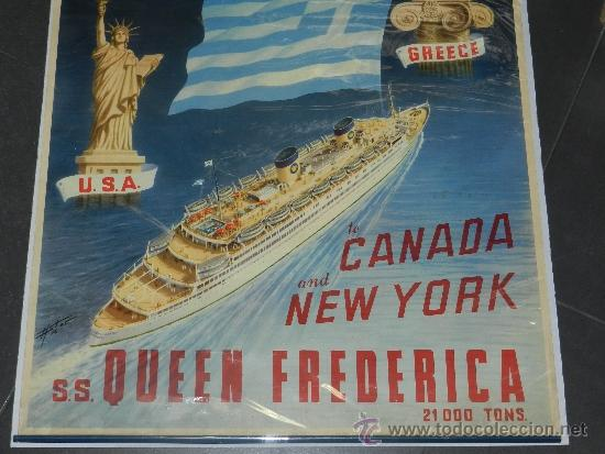 Carteles de Transportes: (M) CARTEL DE NAVIERAS - NATIONAL HELLENIC AMERICAN LINE , GREECE, TO CANADA AND NEW TORK - Foto 4 - 37653388