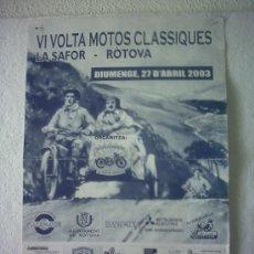 Carteles de Transportes: CARTEL POSTER VI MOTOS CLASICAS LA SAFOR ROTOVA. Lote 38427178