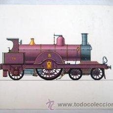 Affissi di Trasporti: LOCOMOTORA JOHNSON, INGLATERRA 1889. 24X18 CM. Lote 38535610