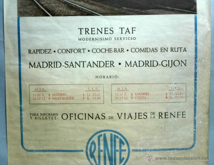 Cartel renfe trenes taf madrid santander madr comprar for Oficinas de renfe en madrid