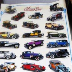 Carteles de Transportes: POSTER CLASSIC CARS DE COCHES ANTIGUOS GRAN TAMAÑO 98 X 68 PLASTIFICADO MUY NUEVO. Lote 40142292
