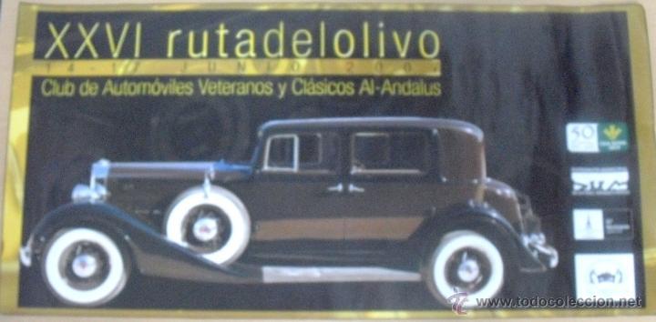 CARTEL POSTER RALLY DE COCHES ANTIGUOS XXVI RUTA DEL OLIVO 2007 CLUB AL ANDALUS JAEN (Coleccionismo - Carteles Gran Formato - Carteles Transportes)