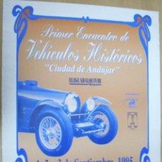 Carteles de Transportes: CARTEL POSTER PRIMER ENCUENTRO VEHÍCULOS HISTORICOS CIUDAD DE ANDUJAR 1995. Lote 40142481