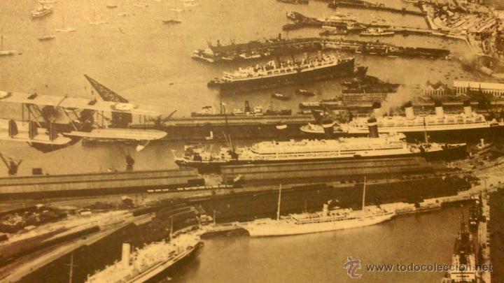 MAURITANIA - OLIMPYC - QUEEN MERY I - FOTO PUERTO SOUTHAMPTON AÑOS 20-30 (Coleccionismo - Carteles Gran Formato - Carteles Transportes)