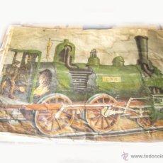 Carteles de Transportes: CARTEL DE GRAN TAMAÑO PARA VER EL FUNCIONAMIENTO DE UNA LOCOMOTORA DE VAPOR - MAQUINA DE TREN. Lote 43734141