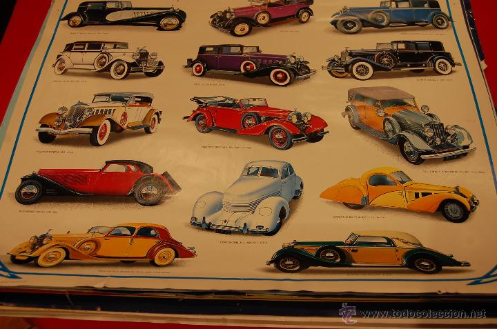 Carteles de Transportes: Póster coches clasicos, medidas: 98X68cm. - Foto 3 - 44775487