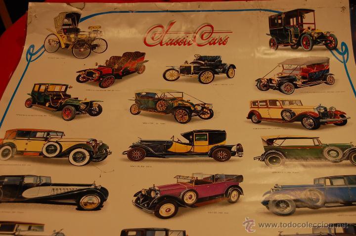 Carteles de Transportes: Póster coches clasicos, medidas: 98X68cm. - Foto 5 - 44775487