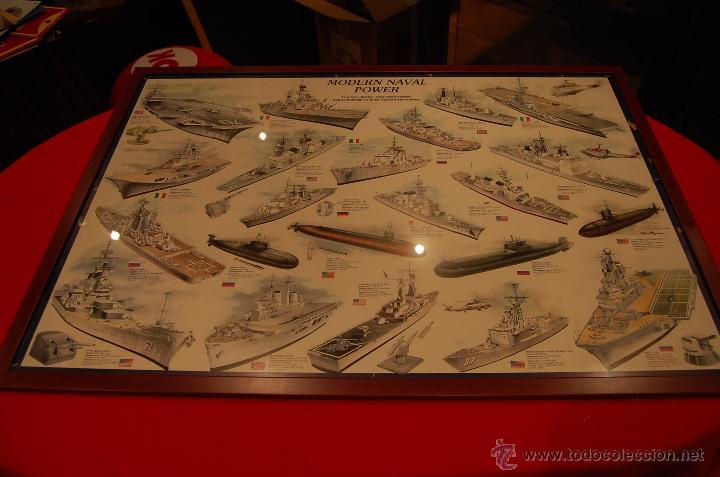 Carteles de Transportes: Lámina enmarcada de barcos, medidas: 102cmX 73cm - Foto 2 - 171296359