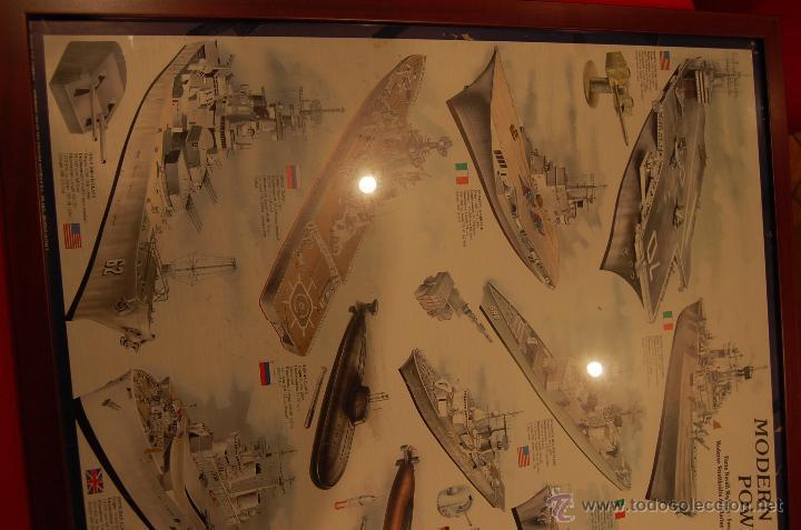 Carteles de Transportes: Lámina enmarcada de barcos, medidas: 102cmX 73cm - Foto 3 - 171296359