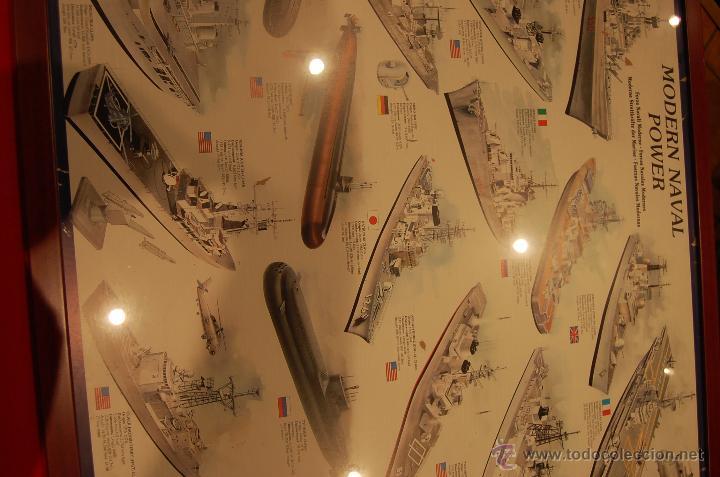 Carteles de Transportes: Lámina enmarcada de barcos, medidas: 102cmX 73cm - Foto 4 - 171296359